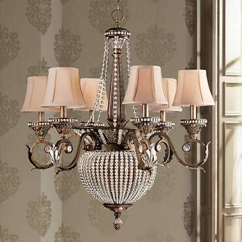 Crystorama Roosevelt Collection Patina 6 Light Chandelier