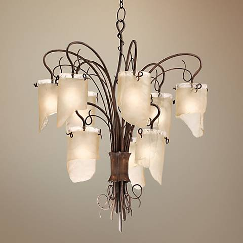 "Varaluz Soho 32 1/4"" Wide Hammered Ore Chandelier"