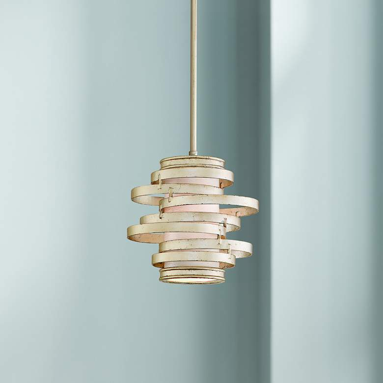 Corbett Vertigo Collection 1-Light Silver Pendant Chandelier