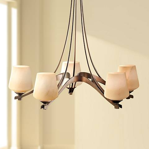 "Hubbardton Forge Ribbon Collection 28 3/4"" Wide Chandelier"