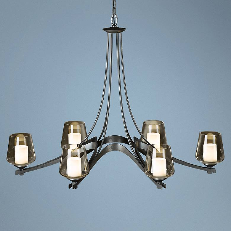 "Hubbardton Forge Ebay: Hubbardton Forge Ribbon Collection 38 1/2"" Wide Chandelier"