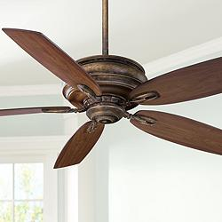 "54"" Minka Aire Timeless French Beige Ceiling Fan"
