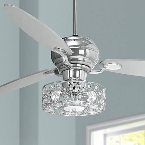 60 spyder chrome ceiling fan with crystal discs light kit r2180 60 spyder chrome ceiling fan with crystal discs light kit mozeypictures Gallery