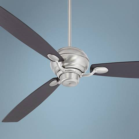 "66"" Spyder Espresso Square Tip - Brushed Steel Ceiling Fan"
