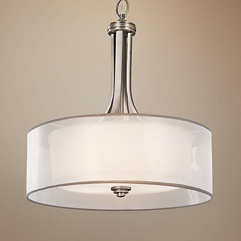 "Kichler Lacey 20"" Wide Antique Pewter Pendant Light"