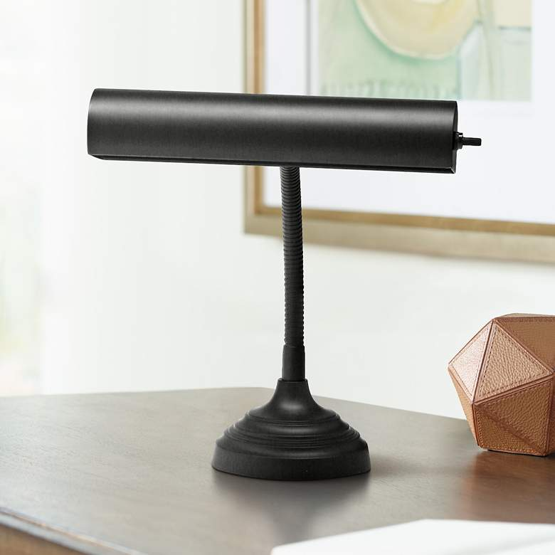 House of Troy Advent Black Piano Desk Lamp