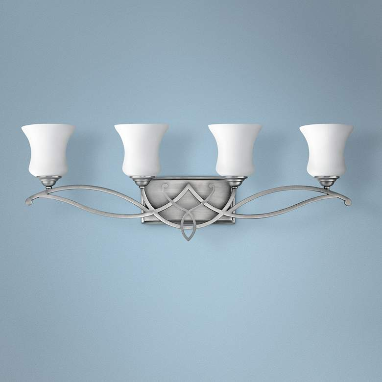 "Brooke Collection 31 1/4"" Wide 4-Light Bathroom Wall Light"