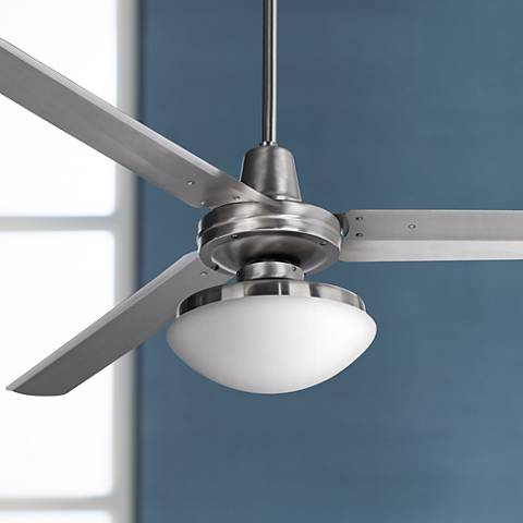"60"" Casa Turbina™ Opal Glass Industrial Ceiling Fan"