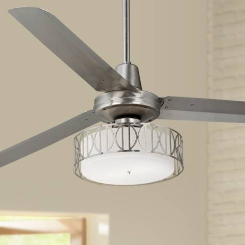 60 Quot Casa Vieja Turbina Art Deco Brushed Steel Ceiling Fan R4144 U0503 Lamps Plus