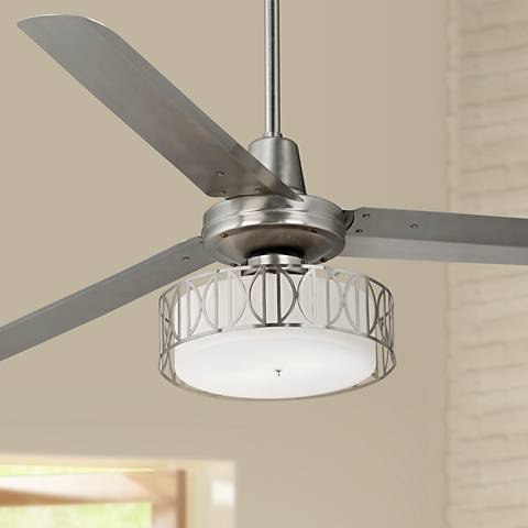 60 Quot Casa Vieja Turbina Art Deco Brushed Steel Ceiling Fan