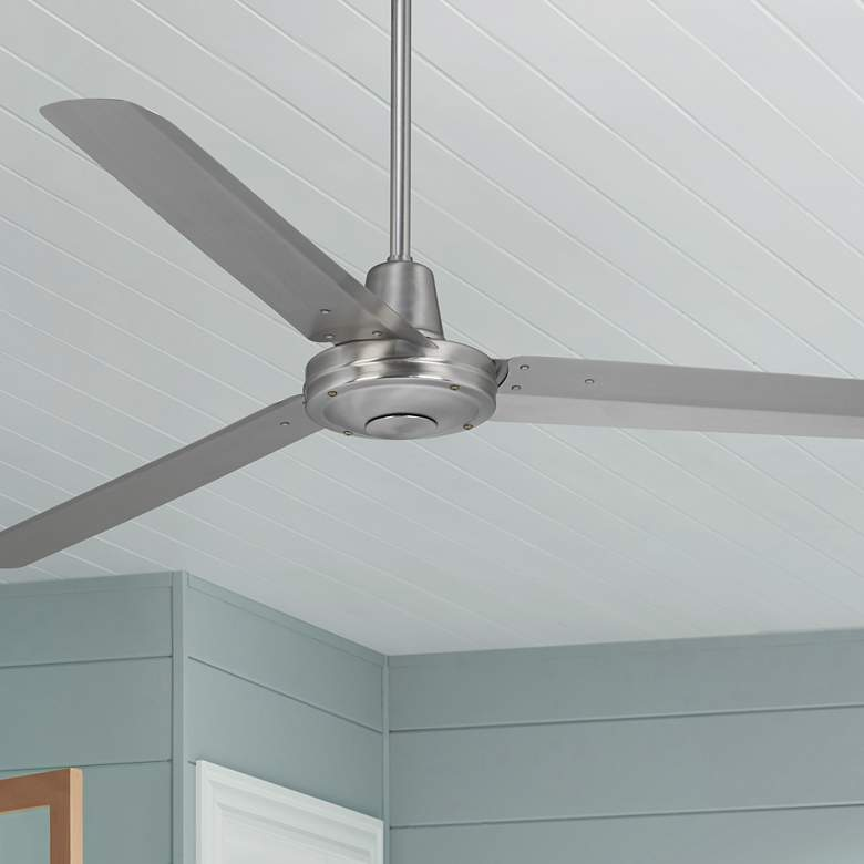 "60"" Turbina™ DC Brushed Nickel Ceiling Fan"