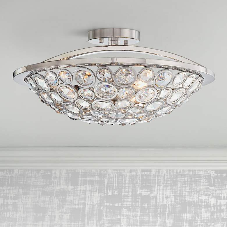 "Metropolitan Magique 18"" Wide Crystal Ceiling Light"