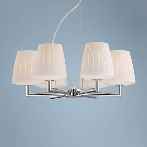 Possini Euro Design Ona 20: Wide Opal Glass Chandelier