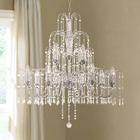 Crystal rain collection 33 wide large crystal chandelier r4677 most popular crystal rain collection 33 wide large crystal chandelier aloadofball Image collections
