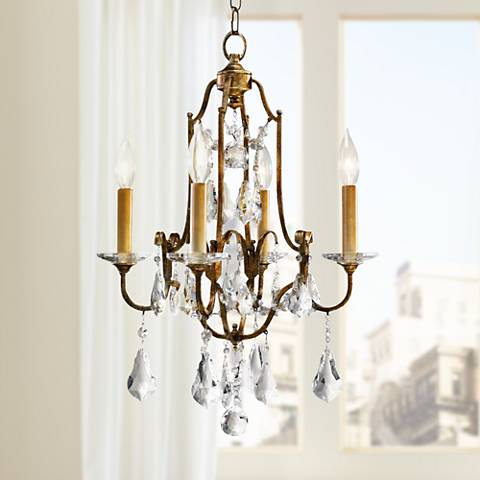 "Feiss Valentina 16 1/4"" Wide Oxidized Bronze Chandelier"