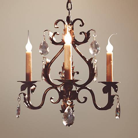 "Laura Lee Michelle 3-Light 20"" Wide Small Crystal Chandelier"