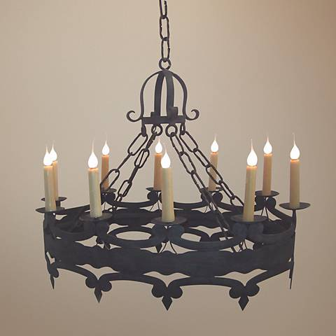 "Laura Lee Oval 10-Light 39"" Wide Large Candle Chandelier"