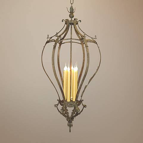 "Laura Lee Alexis 6-Light 24"" Wide Tall Foyer Chandelier"