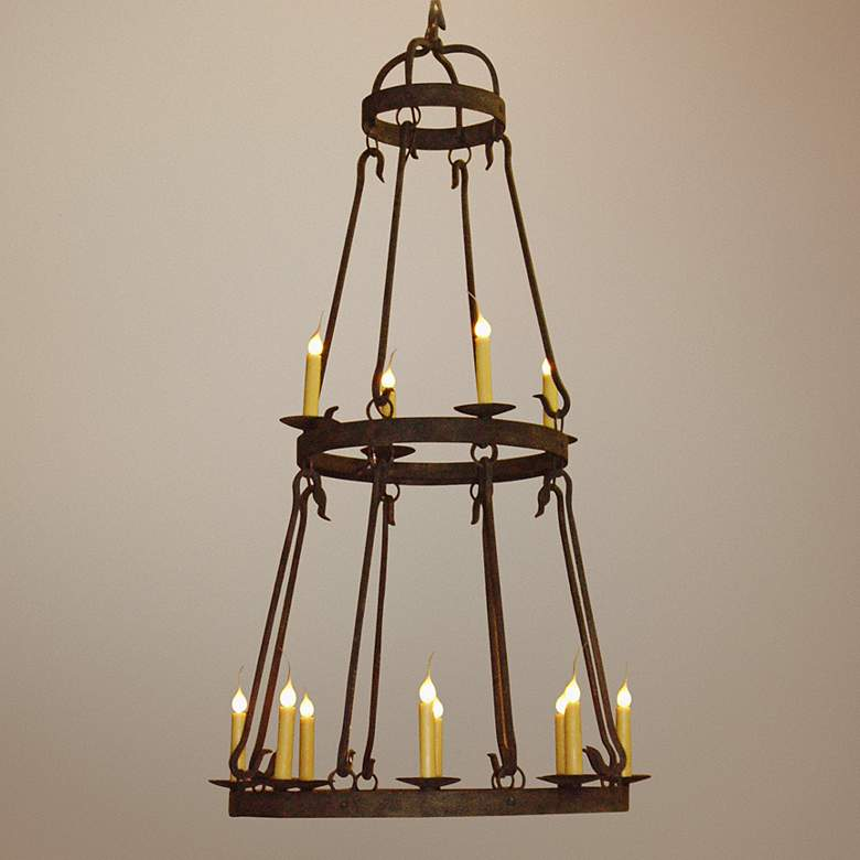 "Laura Lee Buckingham 12-Light 36""W Large Candle Chandelier"
