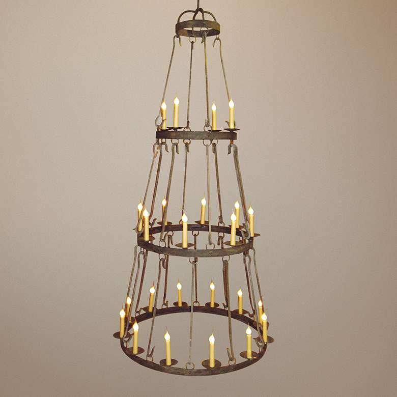 "Laura Lee Buckingham 24-Light 46""W Large Candle Chandelier"