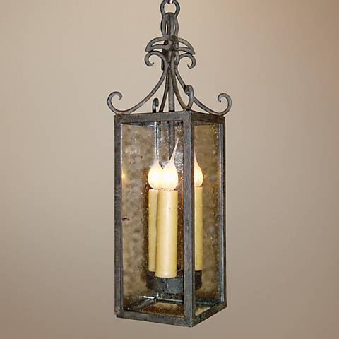 "Laura Lee Isabela 5"" Wide 3-Light Foyer Chandelier"