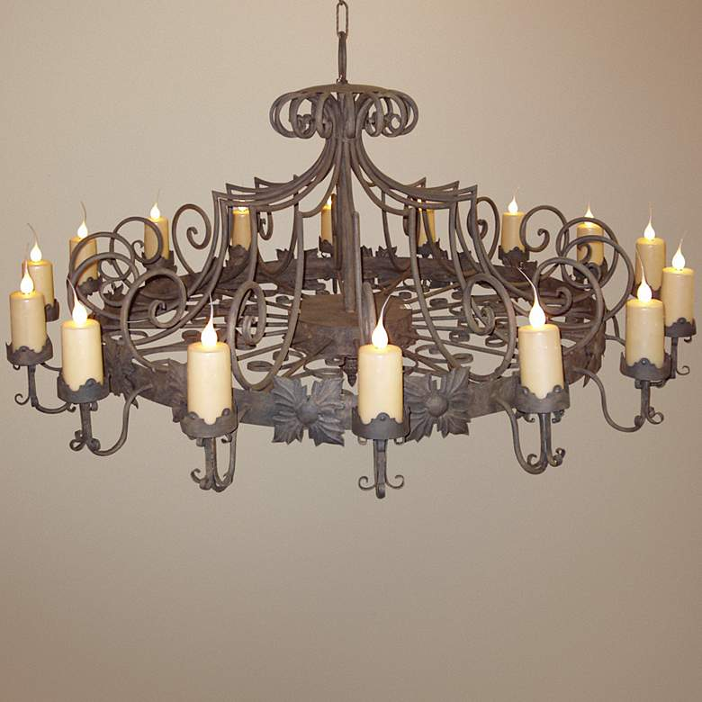 "Laura Lee Madrid 16-Light 72"" Wide Large Candle Chandelier"