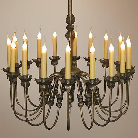 "Laura Lee Venus 18-Light Large 36"" Wide Candle Chandelier"