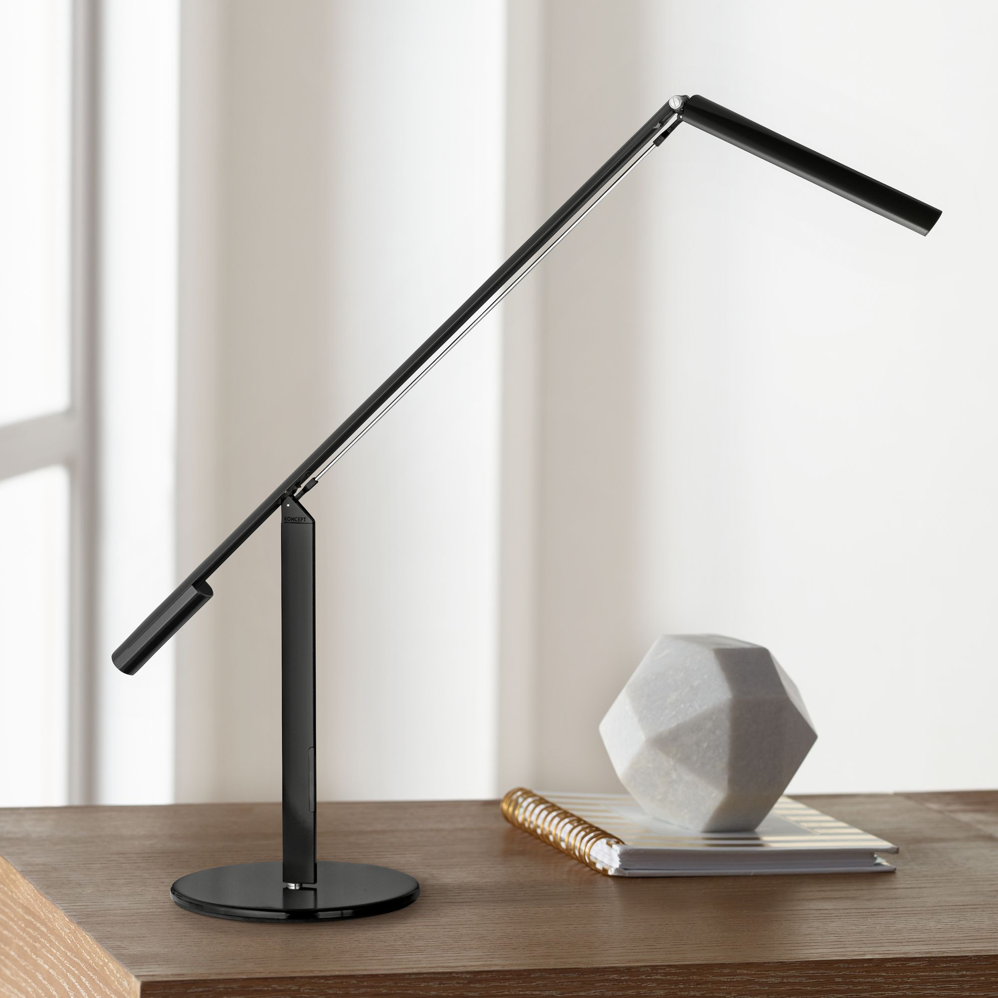 Charmant Gen 3 Equo Daylight LED Black Desk Lamp With Touch Dimmer