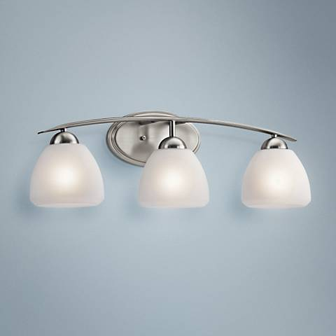 "Kichler Calleigh 26"" Wide Brushed Nickel Bath Light"
