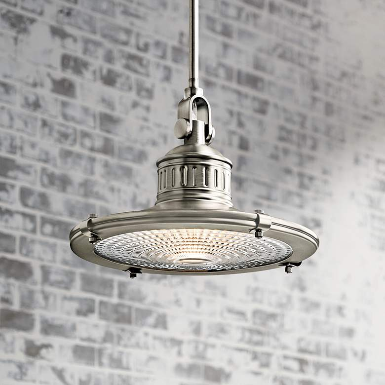 "Kichler Sayre 10"" Wide Antique Pewter Mini Pendant Light"