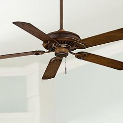 "54"" Minka Aire Walnut Sundowner Outdoor Ceiling Fan"