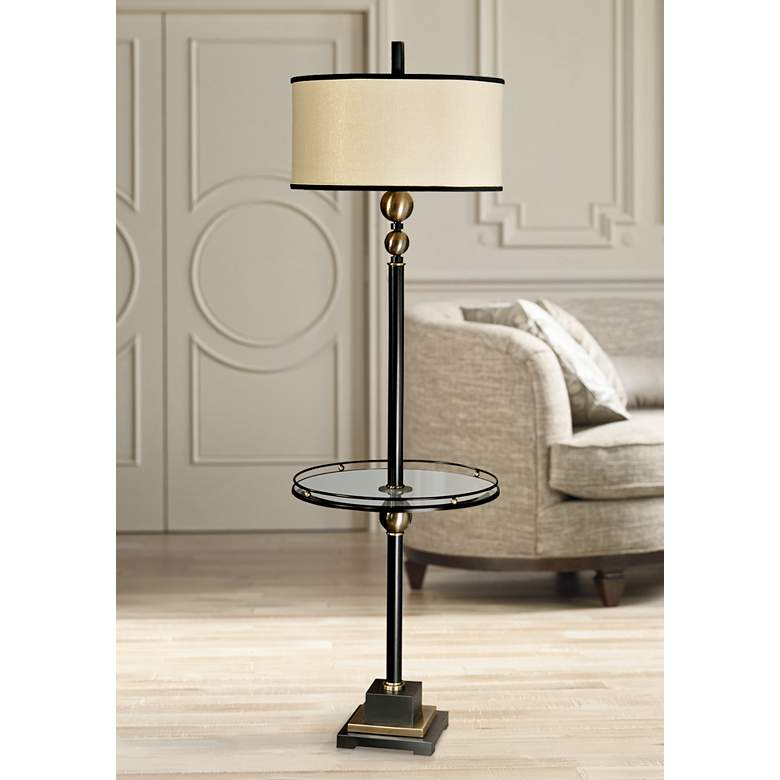 "Uttermost Revolution 65 1/2"" High End Table Floor Lamp"