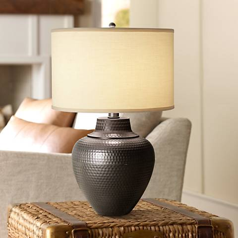 Maison Loft Hammered Pot Table Lamp by Franklin Iron Works