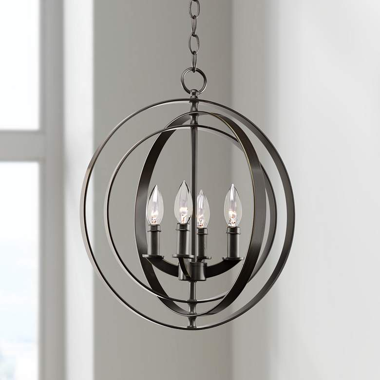"Equinox Collection Bronze 16"" Wide Pendant Light"