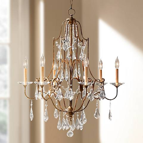 "Feiss Valentina 28 1/2"" Wide Oxidized Bronze Chandelier"