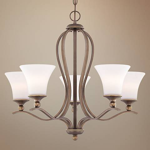 Quoizel Sophia Palladian Bronze 5-Light Chandelier