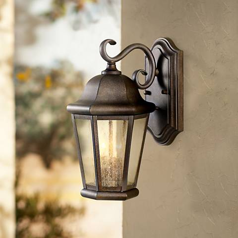 "Martinsville 14 1/2"" High Outdoor Wall Lantern by Feiss"