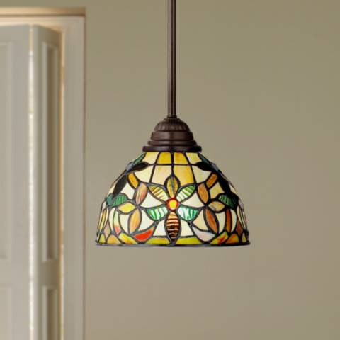 Quoizel Kami Tiffany Style Mini Pendant Light R9751