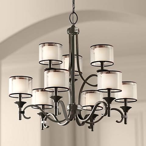 "Kichler Lacey Mission Bronze 34 1/2"" Wide Chandelier"