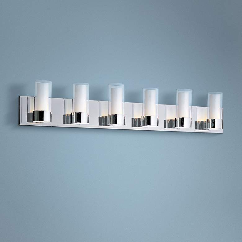 Maxim Silo Polished Chrome 6-Light Bathroom Light Fixture