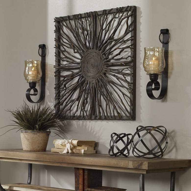 "Joselyn 18"" High Wall Sconce Candle Holders - Set of 2"