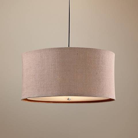 Uttermost Alamo Burlap 3-Light Pendant Light