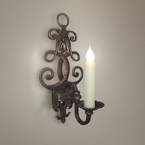 "Laura Lee Fleur De Lis Single Light 18"" High Wall Sconce"