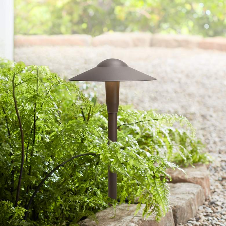 "Kichler Landscape 16""H 3000K LED Bronze Dome Path"