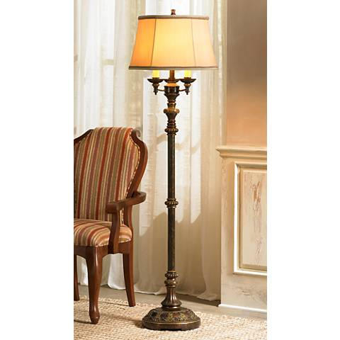 Italian Bronze 4-Light Floor Lamp