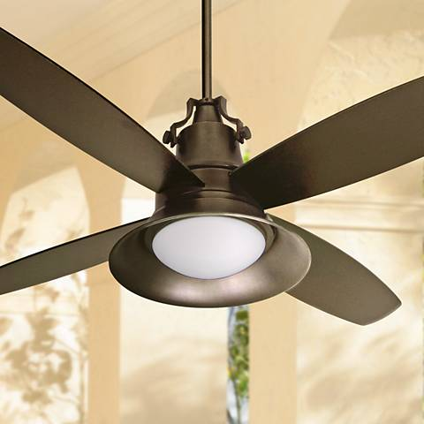 Tropical ceiling fans lamps plus 52 craftmade union oiled bronze wet location ceiling mozeypictures Images