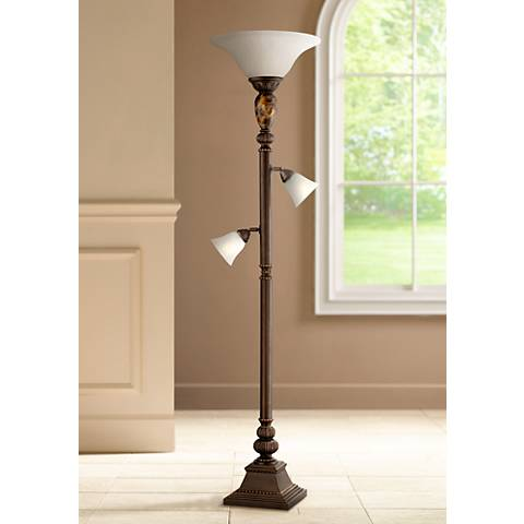 Kathy Ireland Mulholland Tree Torchiere Floor Lamp