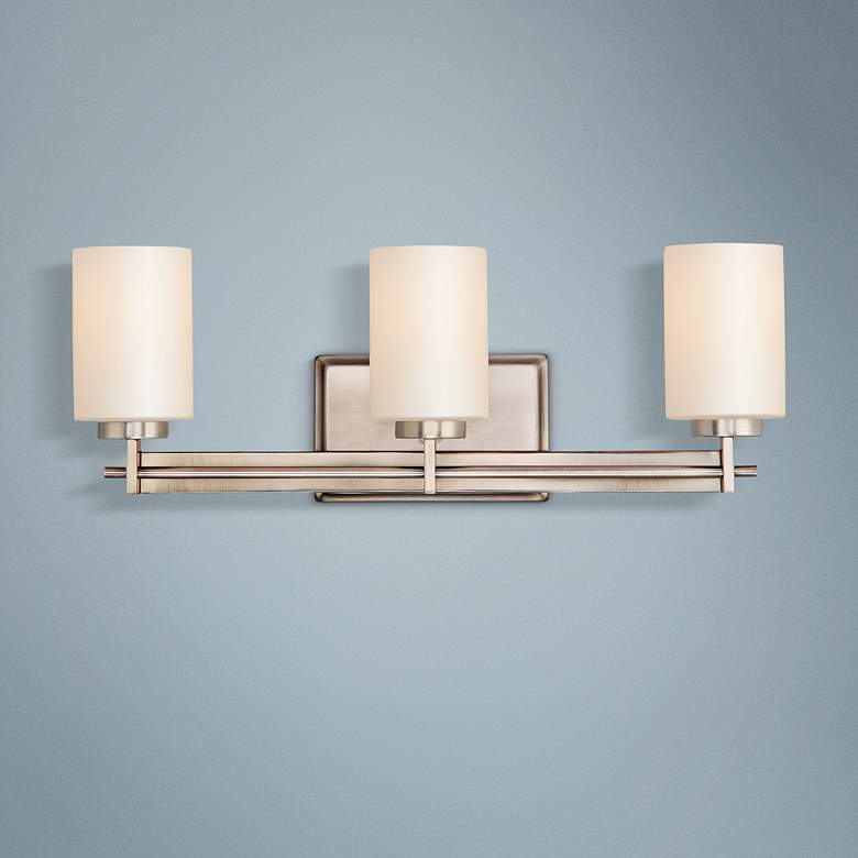 Quoizel Taylor 21 Wide Antique Nickel Bathroom Light T4521 Lamps Plus