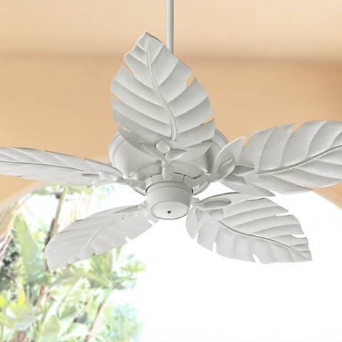 "52"" Quorum Monaco Studio White Patio Ceiling Fan"