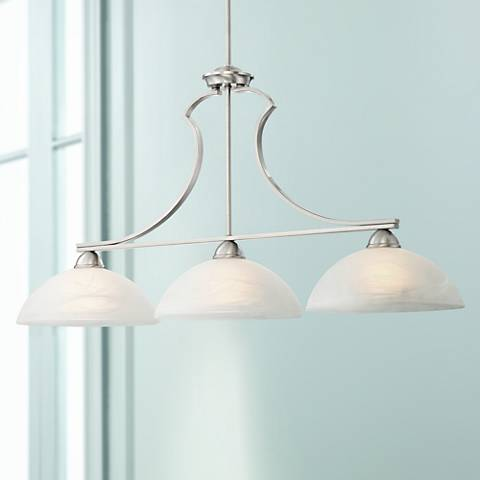 Milbury Collection Satin Nickel 3-Light Island Chandelier